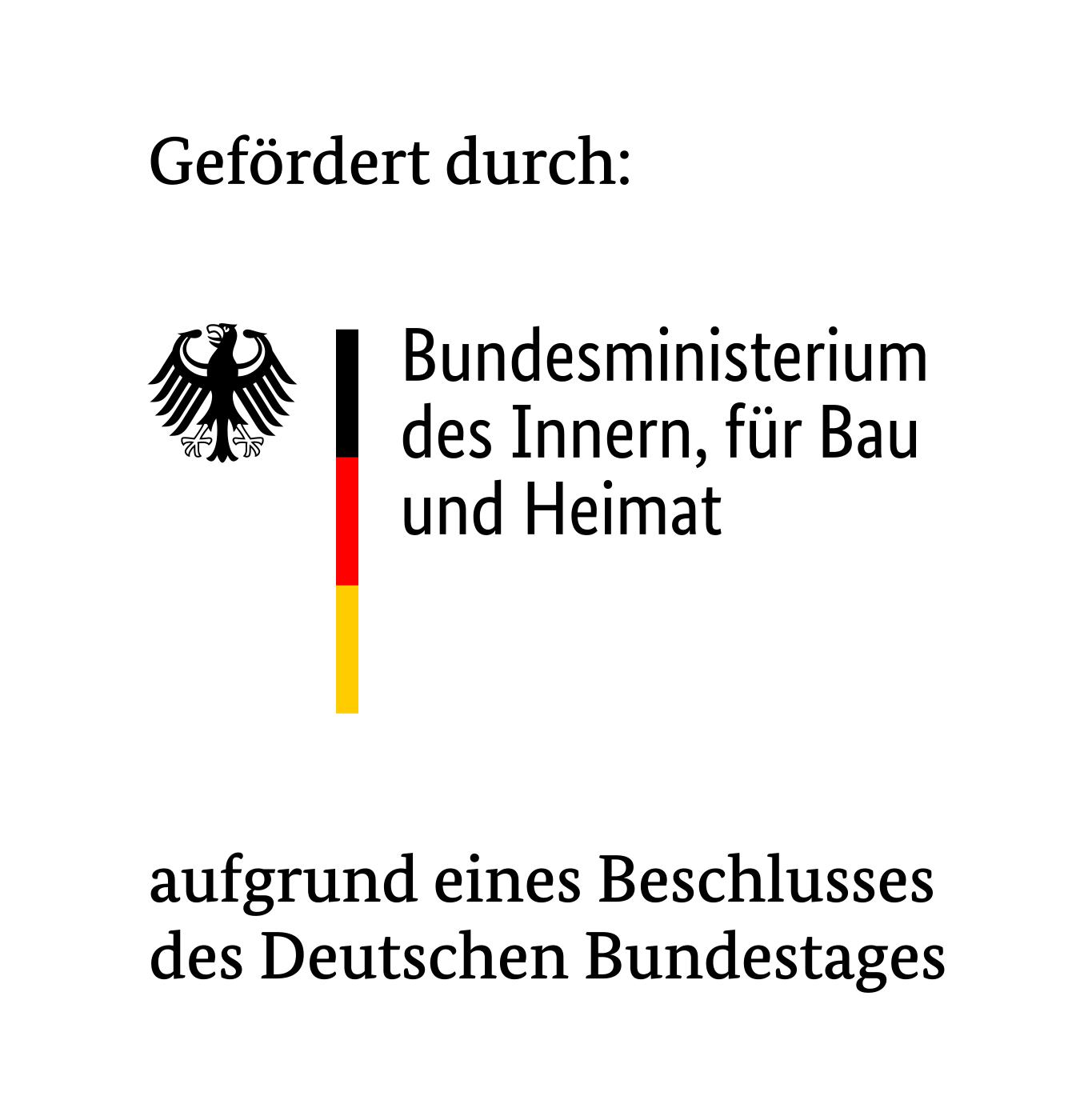 Förderer Logo: Bundesministerium des Inneren, für Bau und Heimat